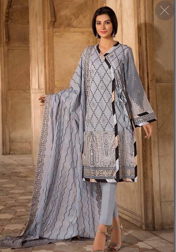 Gul Ahmed Cambric shirt dupatta stitched
