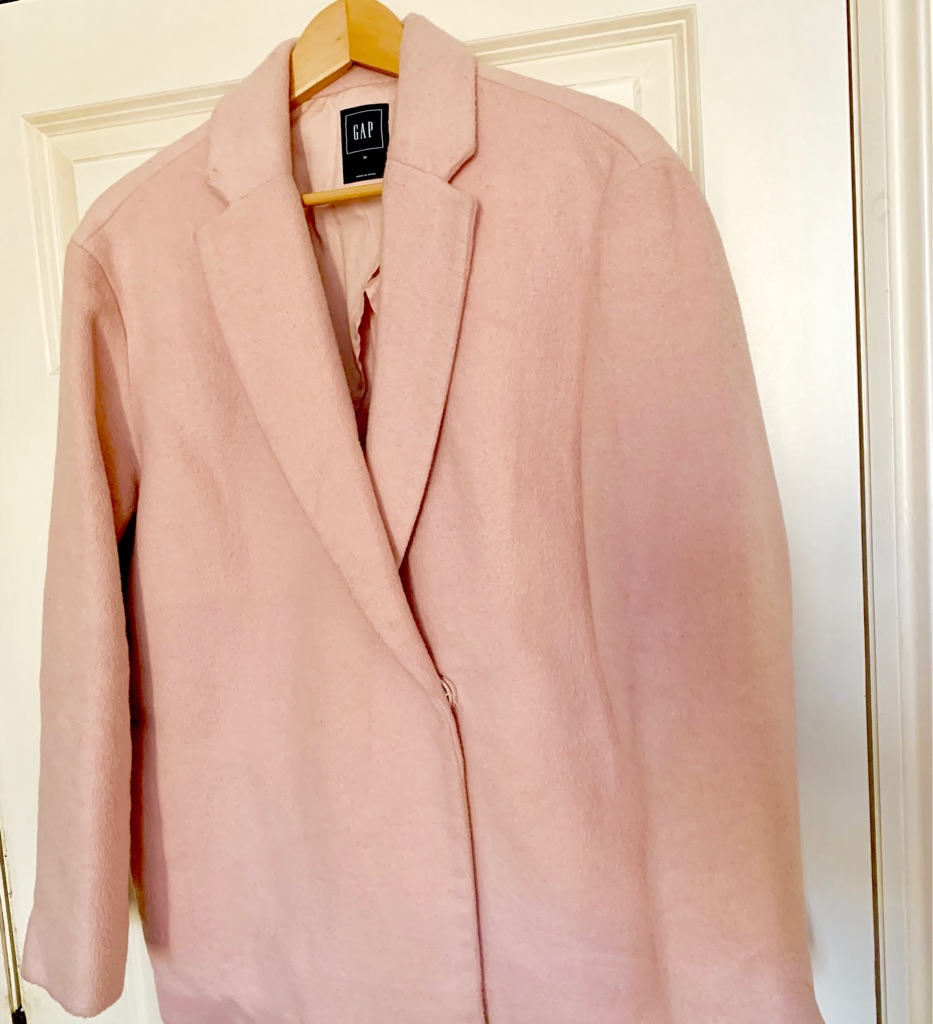 GAP light pink 39% wool coat - size M