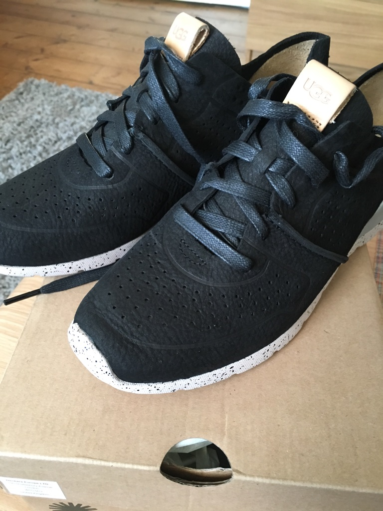 UGG black leather trainers uk size 6