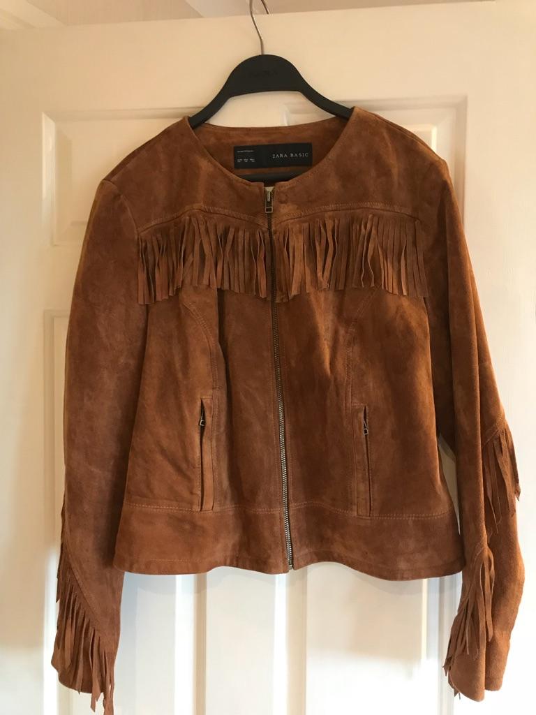 Zara suede jacket - size 14