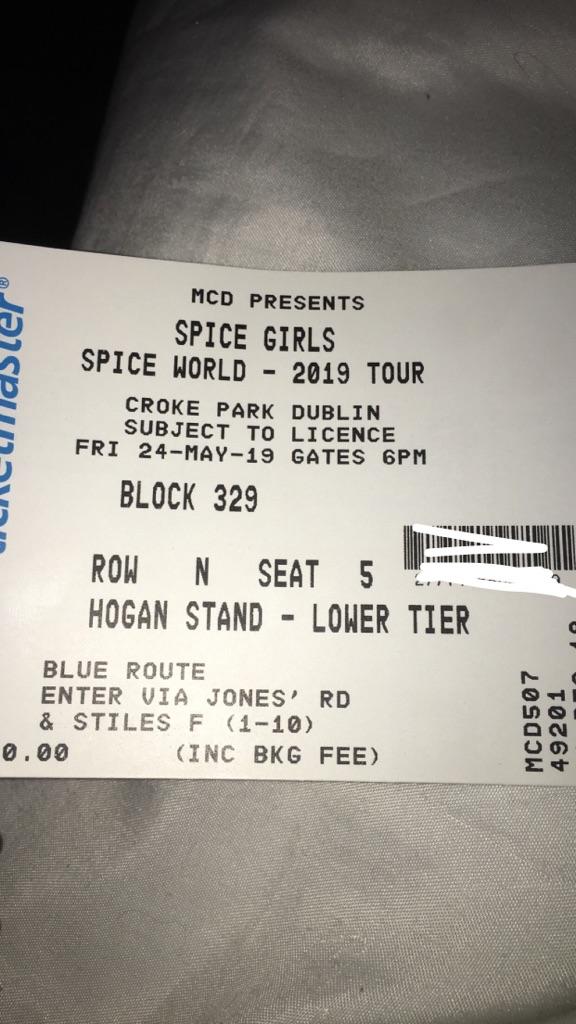 Spice girls tickets x2