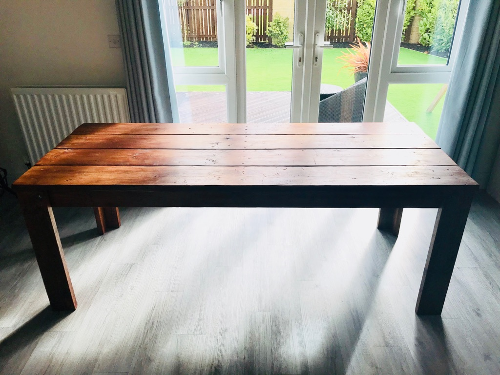 7ft wooden table