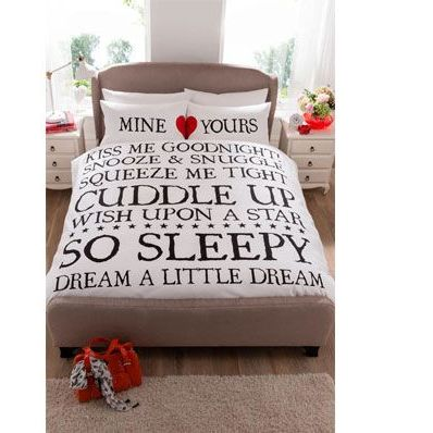 Double Mine and Yours Duvet Set