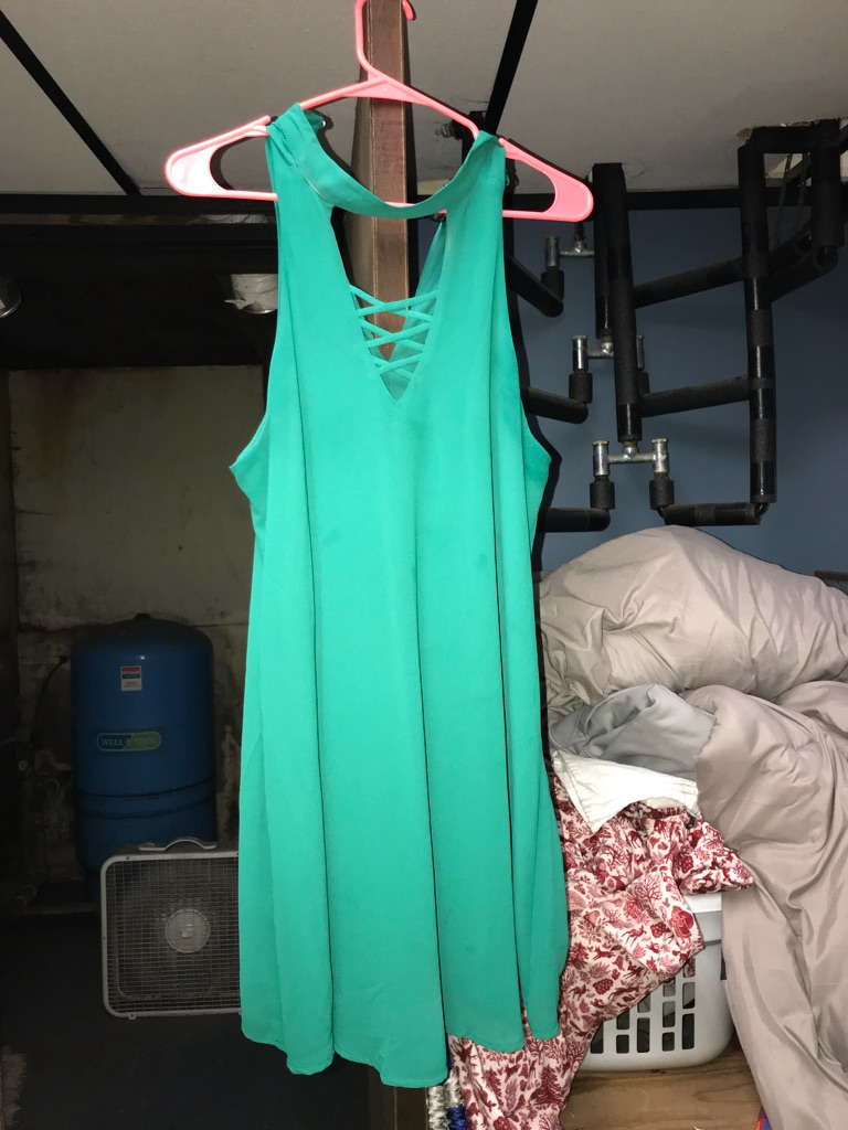 Green hoco dress
