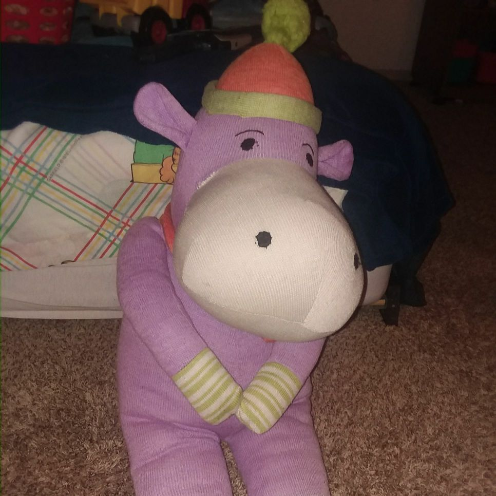 Big stuffed animal hippo.