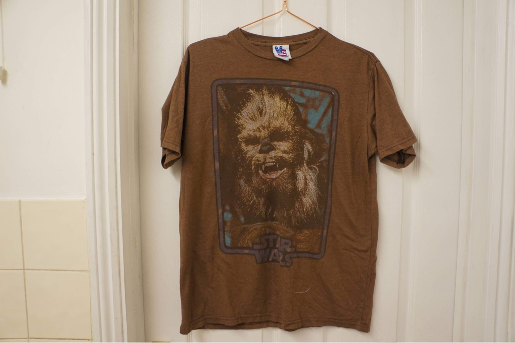 Chewbaka Star wars  brown T-shirt