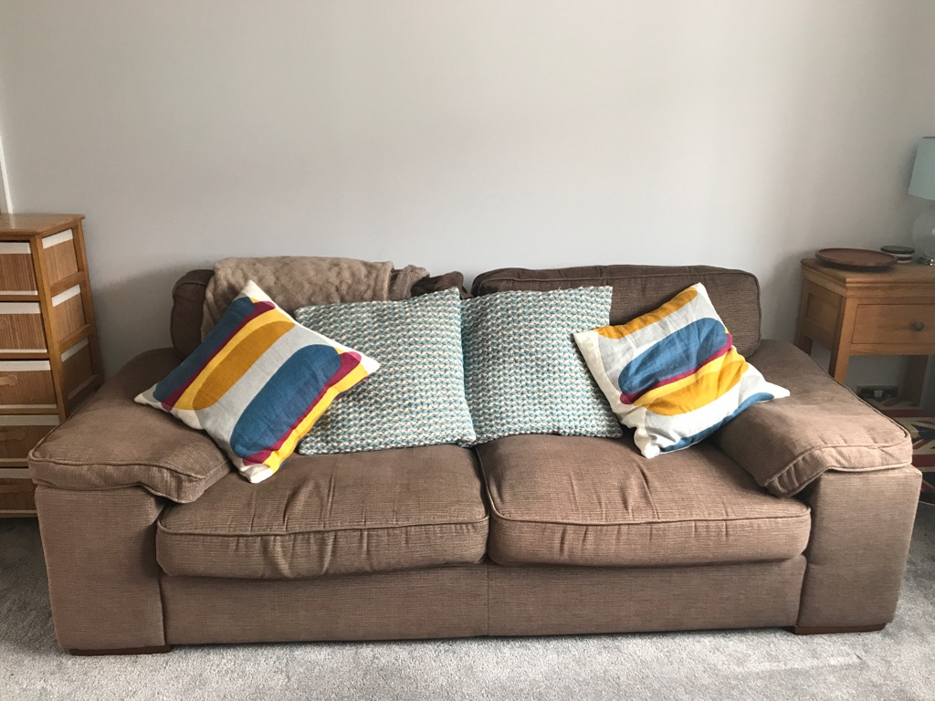 2 x Brown Sofas