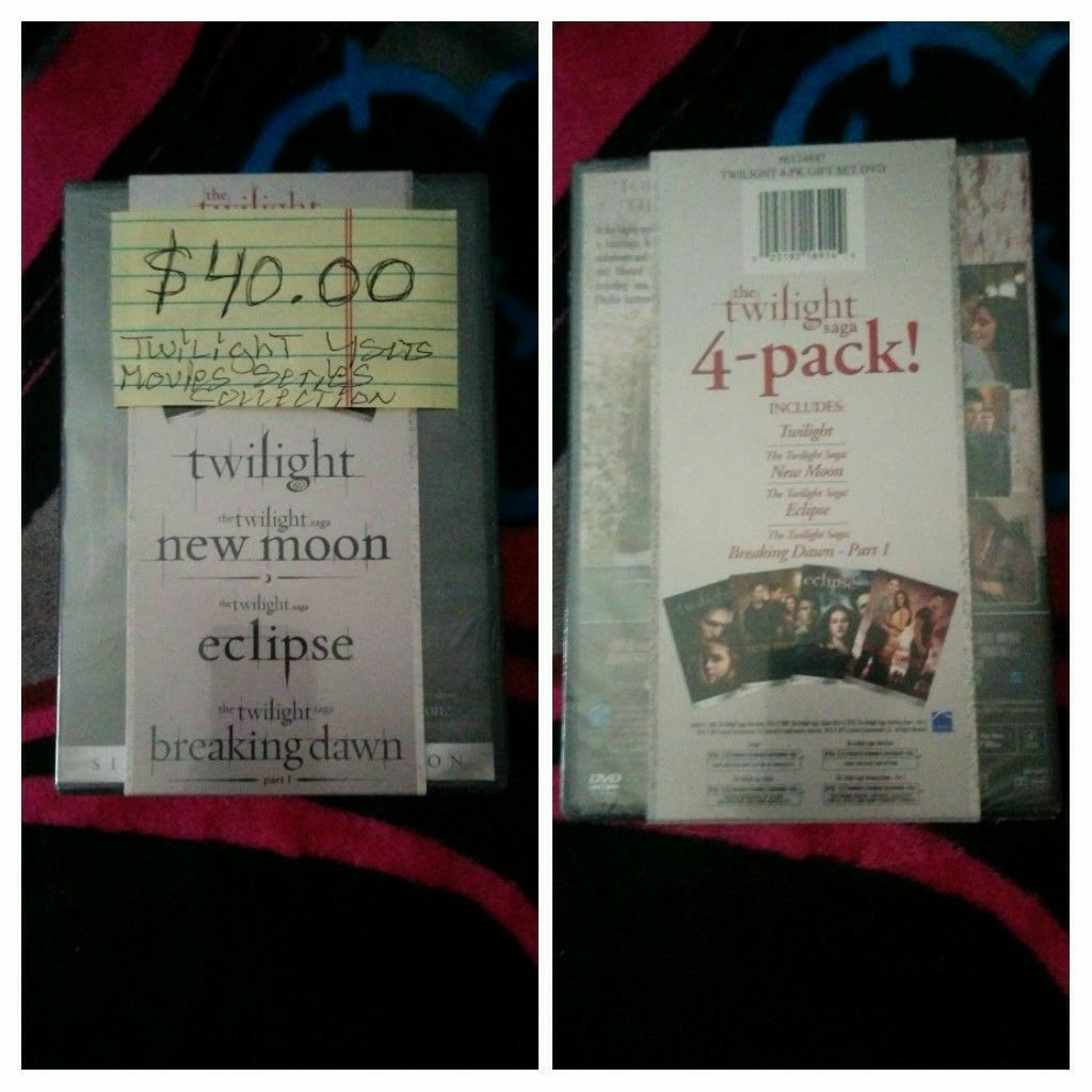 Brand New Twilight Series 4 Movie's Set's For Sale $40.00 Only Please !!