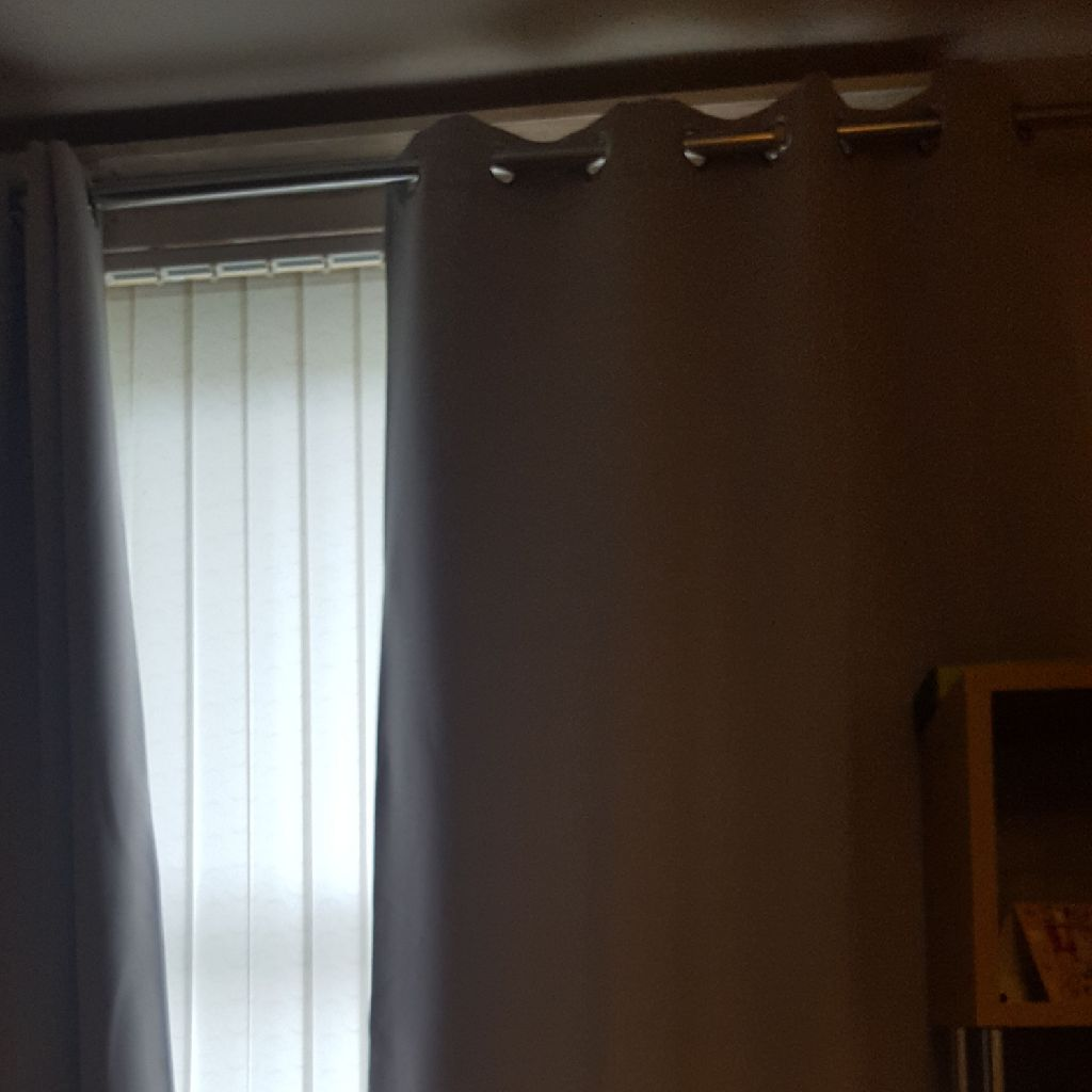 Light grey curtains