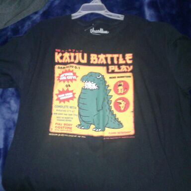 Kaiju battle play shirt