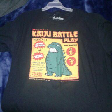 Kaiju battle play shirt