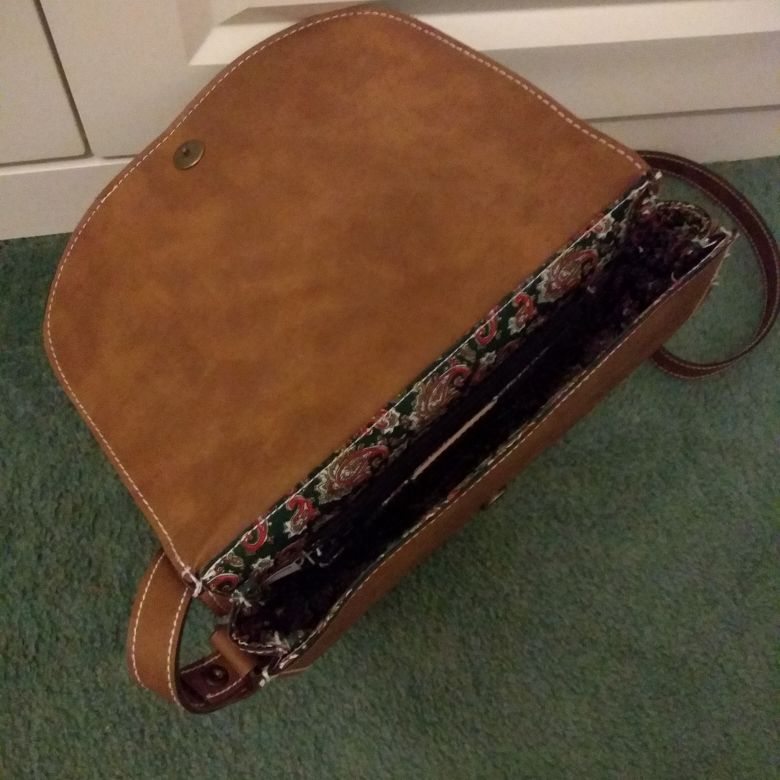 Faux leather cross body bag unused