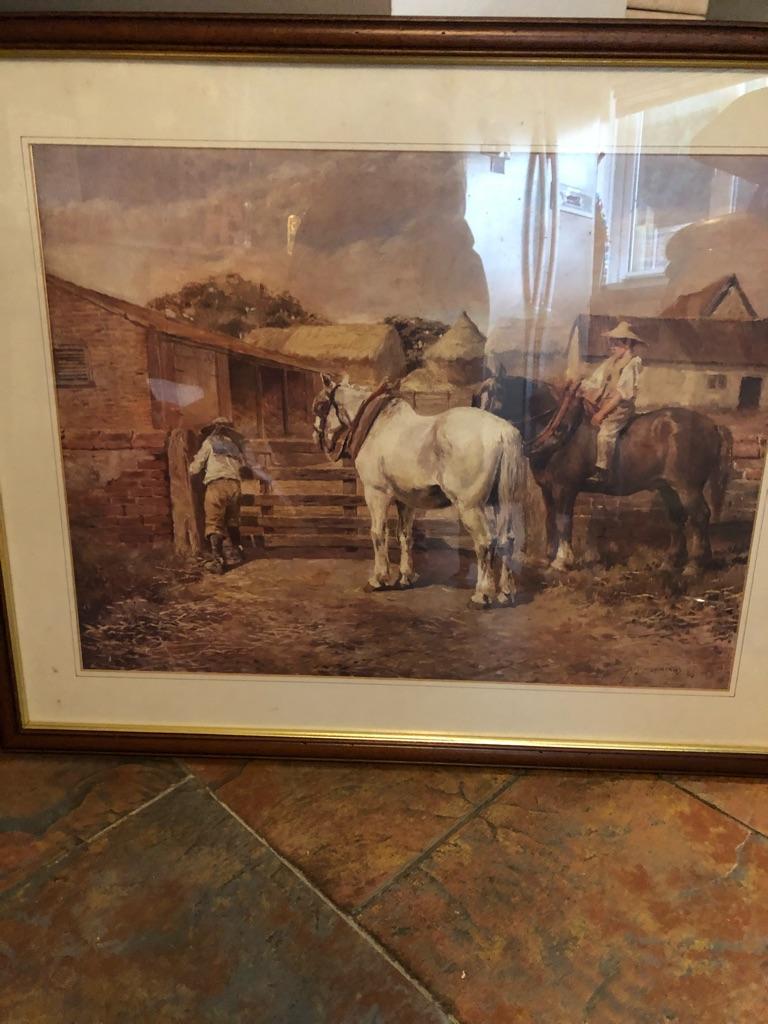 Farmhouse print in wooden frame
