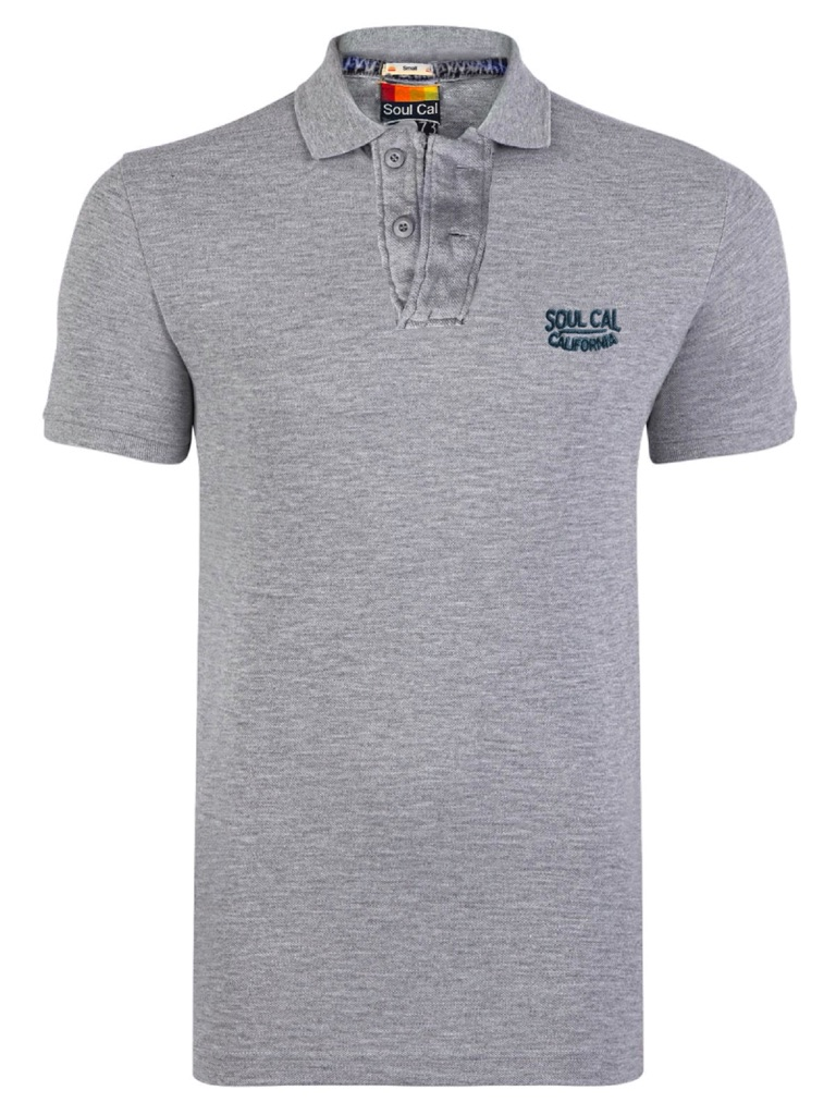 Soulcal Signature Grey Polo Shirt