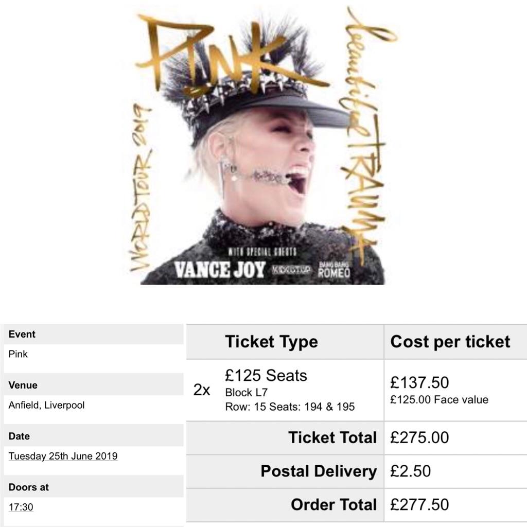 2x Pink Tickets