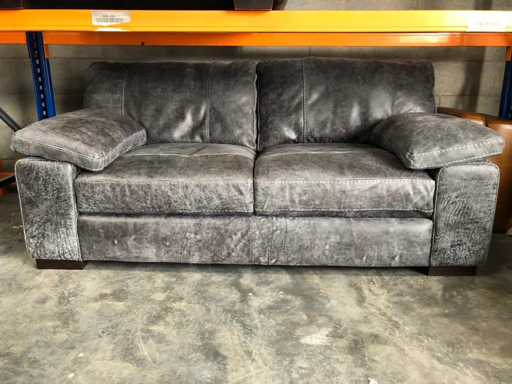 Linara Sofology set 3seat armchair and footstool (Utah grey)
