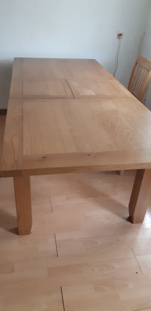 Solid Pine Extendable Table with 5 Chairs