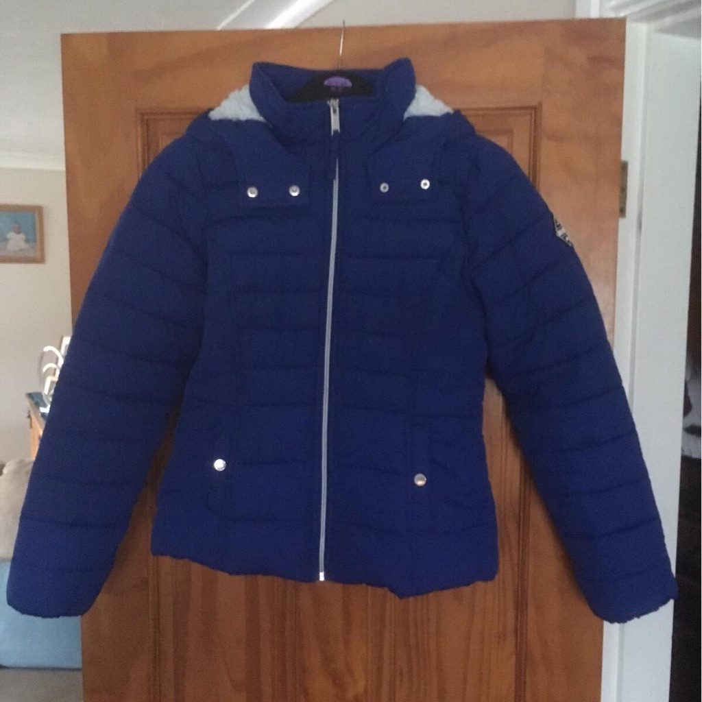 Hollister Sherpa Lined Puffer Jacket/Coat Size M