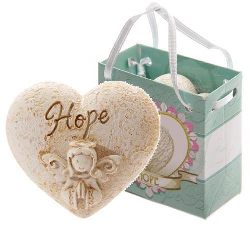 Hope angel whisper heart in gift bag