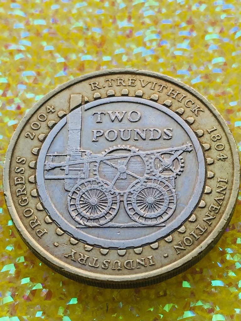 2 pound coin 2004 Trevithick invention industry.