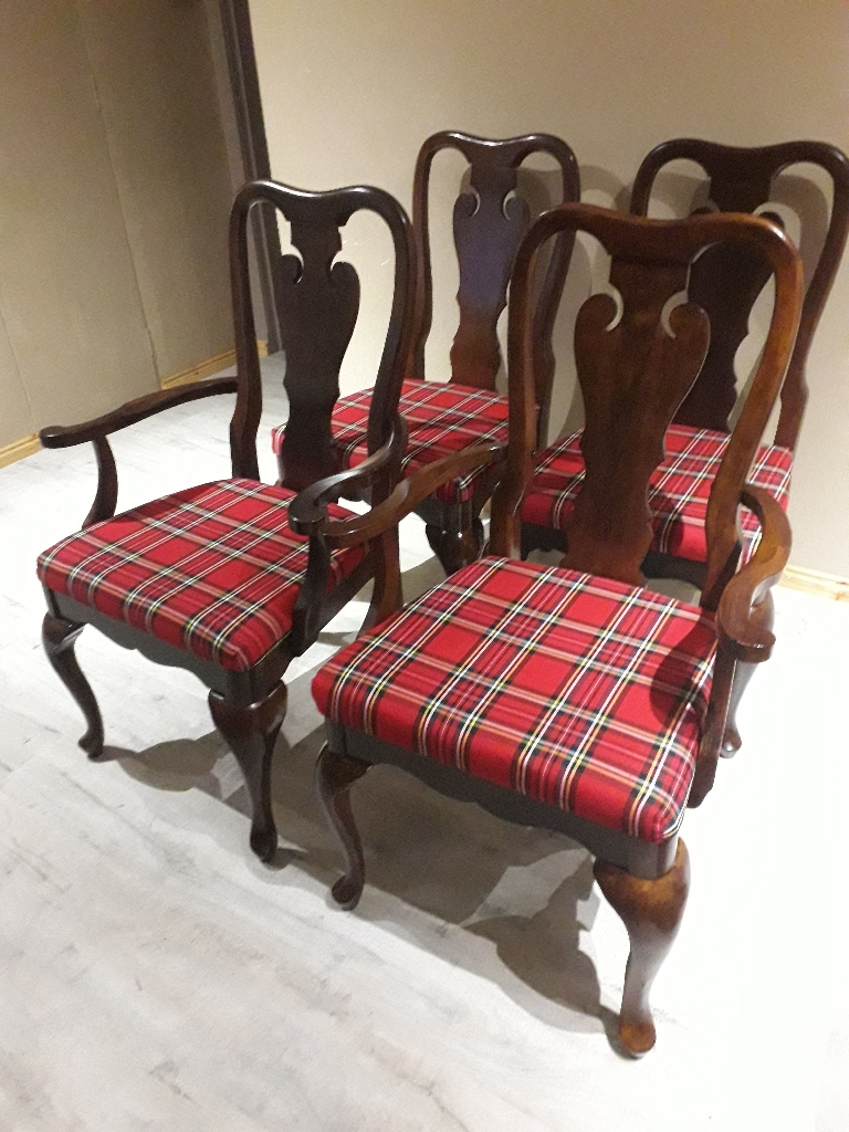 Scottish Tartan Refurbished Chairs