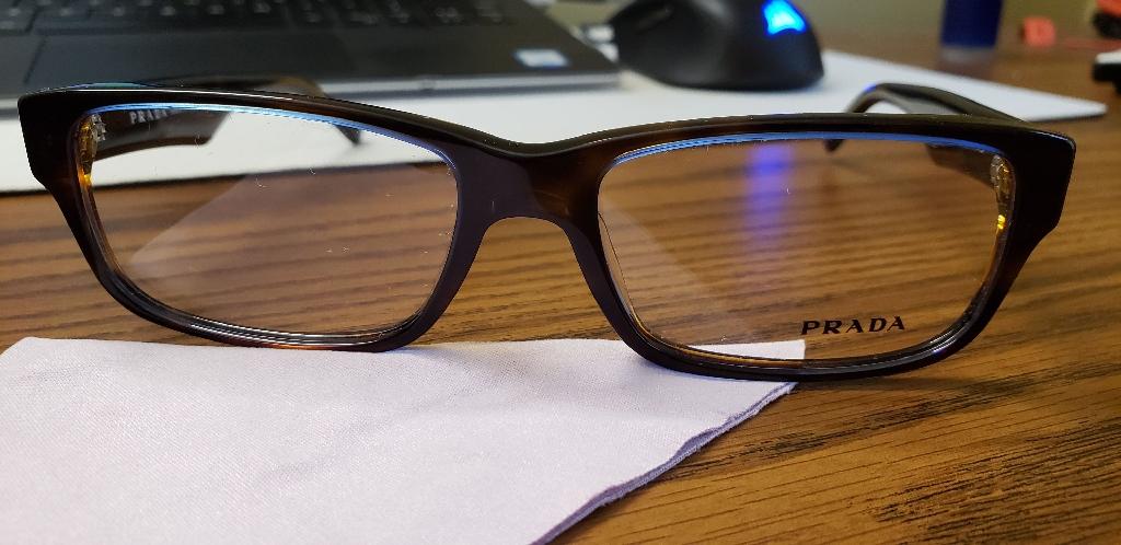 Prada PR 16MV Eyeglasses, Tortoise Denim