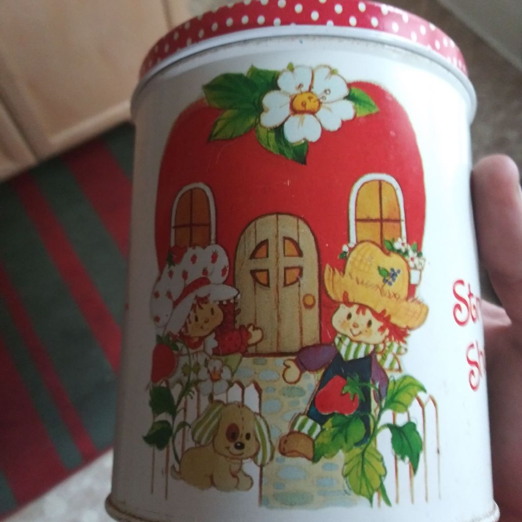 Strawberry Shortcake Metal Tin Excellent Condition