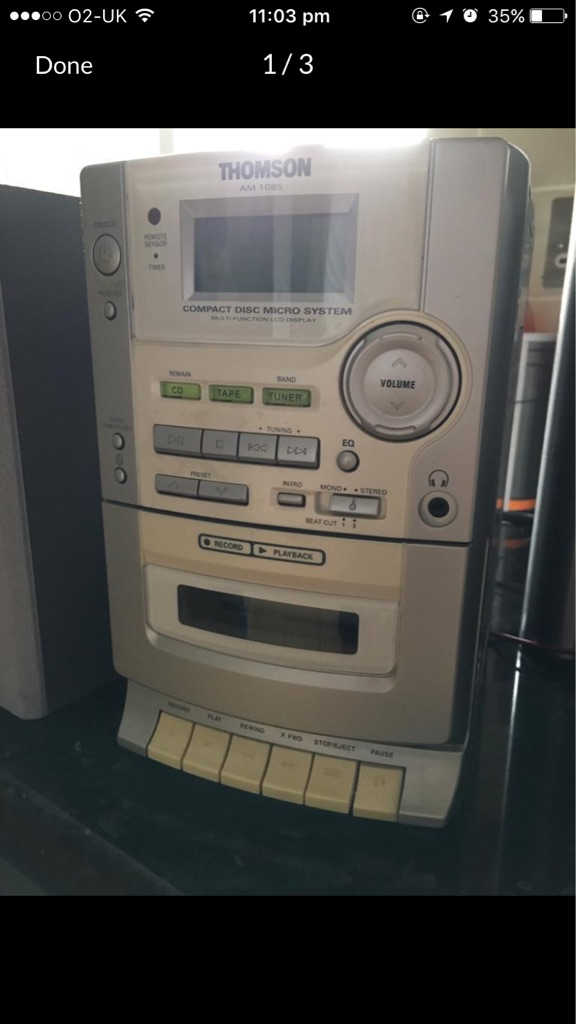 Stereo, CD, Cassette Player