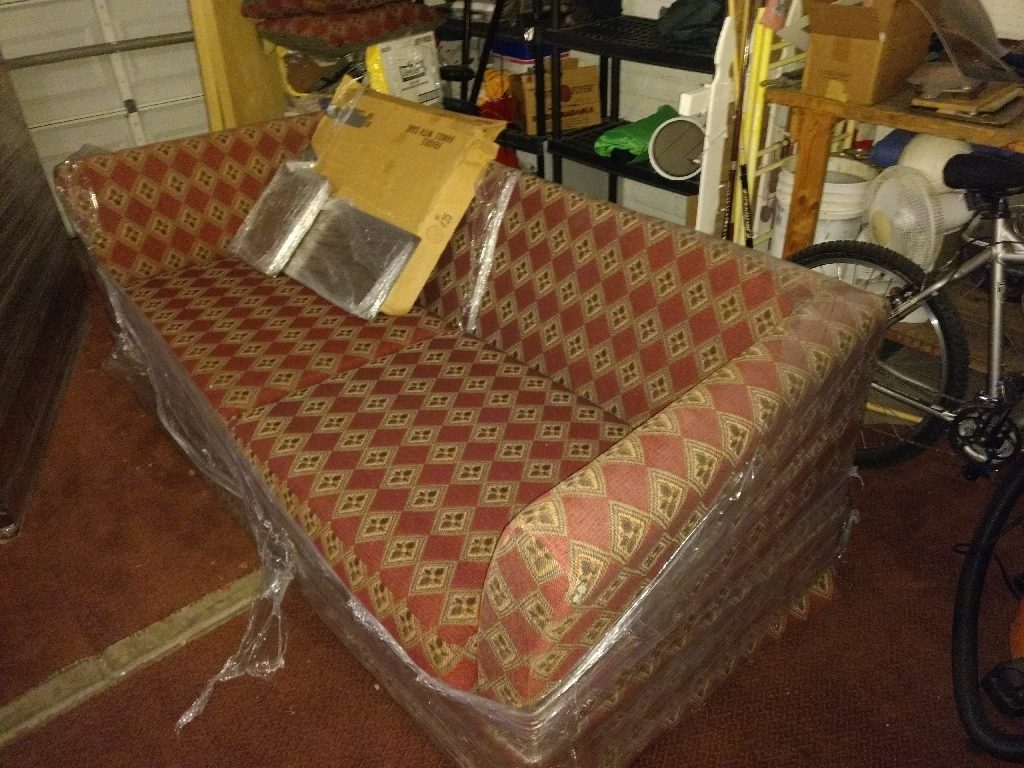 Fold out couch with bed.
