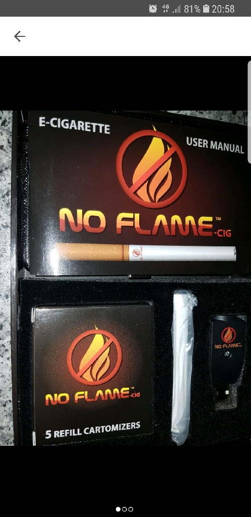 No flame e cigarette starter kit