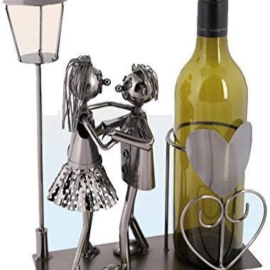 Metal bottle wine holder ornament decor kitchen gift