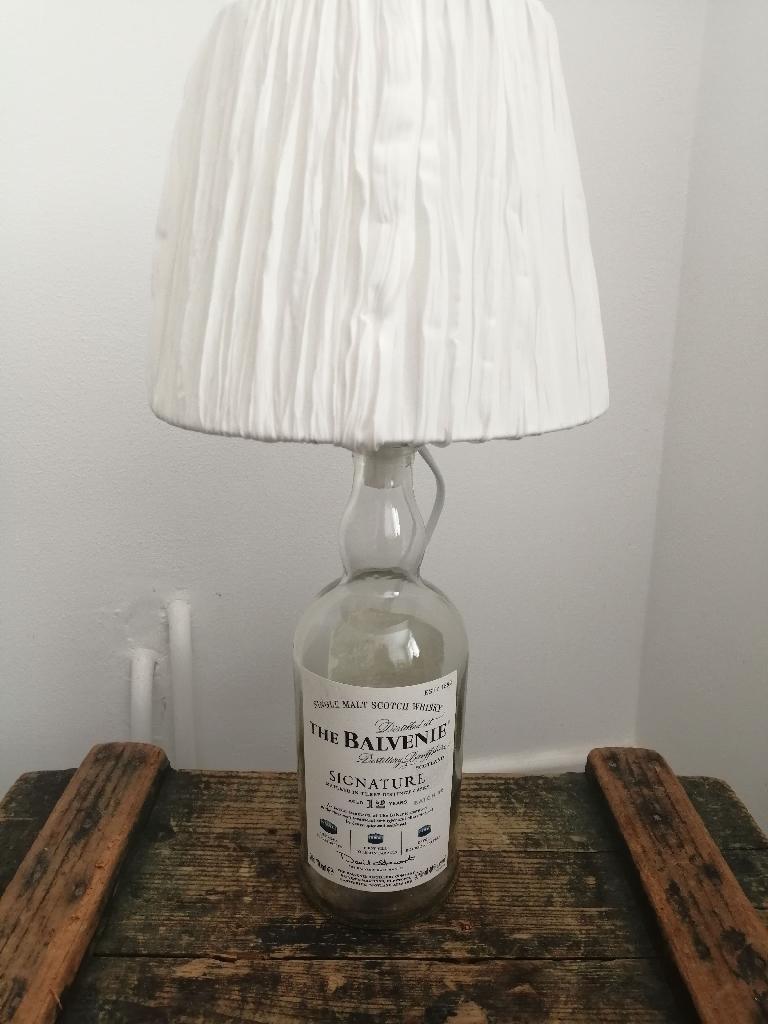 Side Table bottle lamp