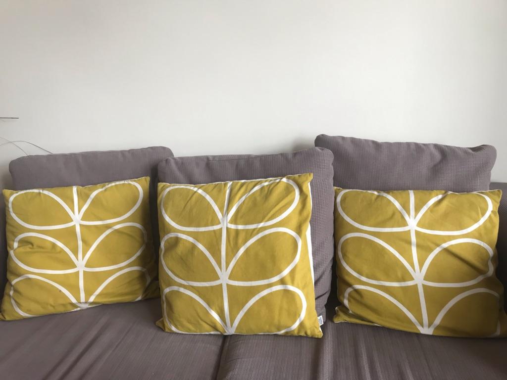3 Orla Kiely cushions
