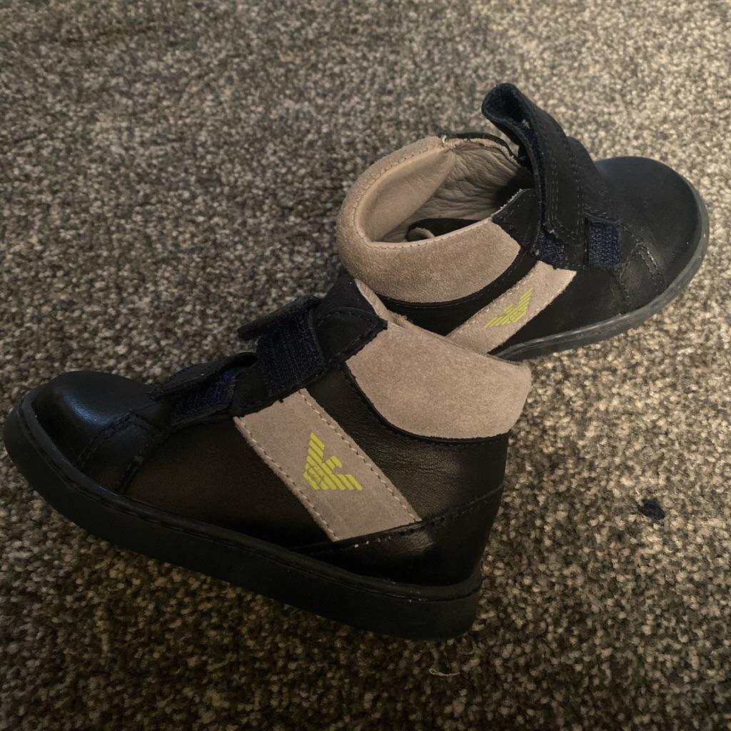 Toddler boy Armani boots