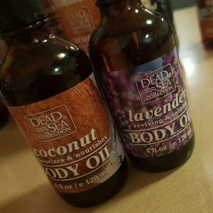 2 × Dead Sea Collection Lavender Reviving & Calming Body Oil 120ml