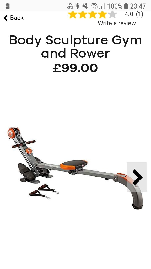 Body sculpture gym rower