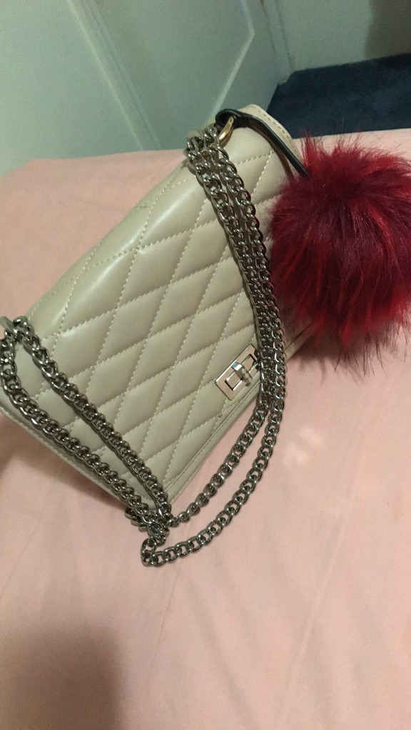 Purse with funny keychain