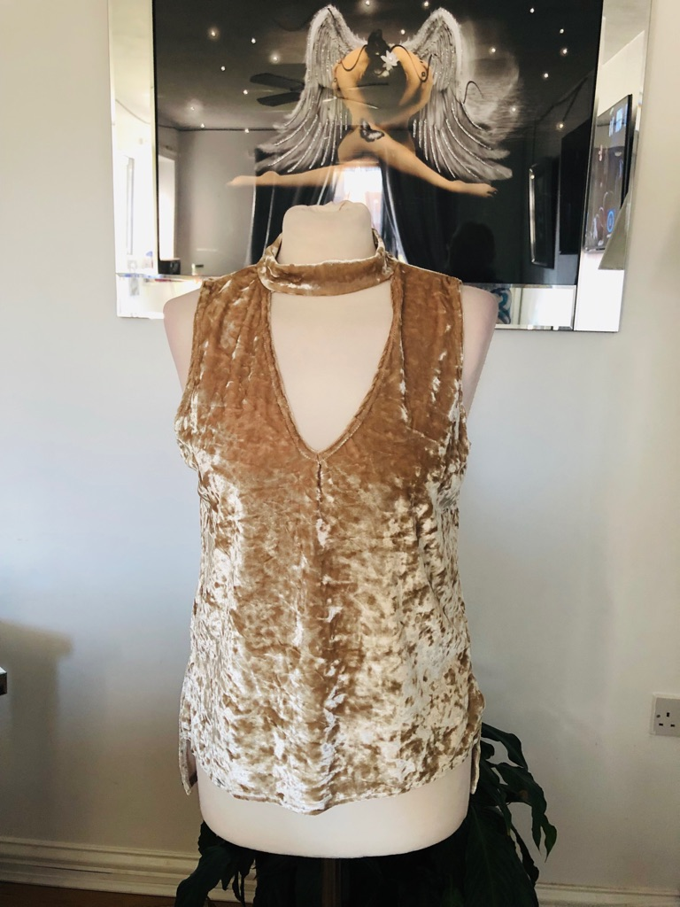 Women's beige top by ayanapa size 14