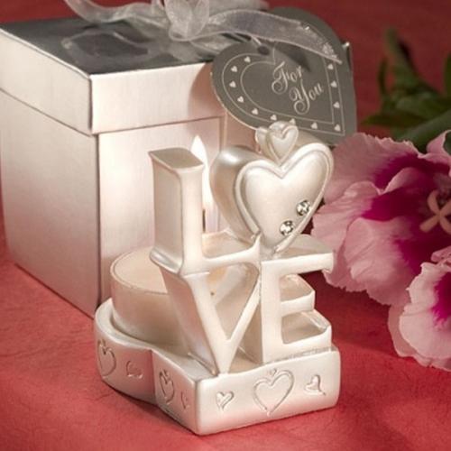 Love design candle holder favors