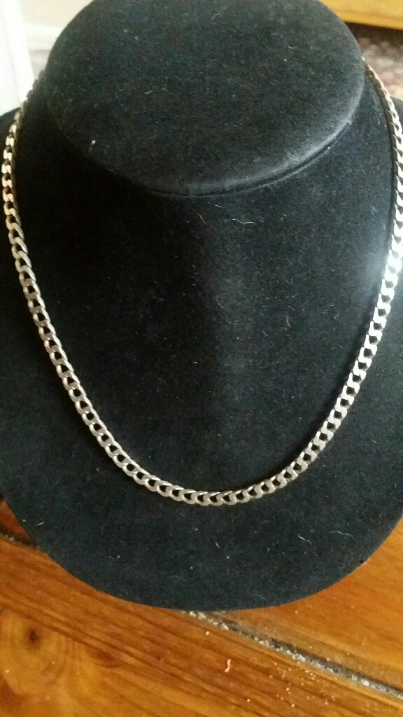 Sterling silver solid Curb chain