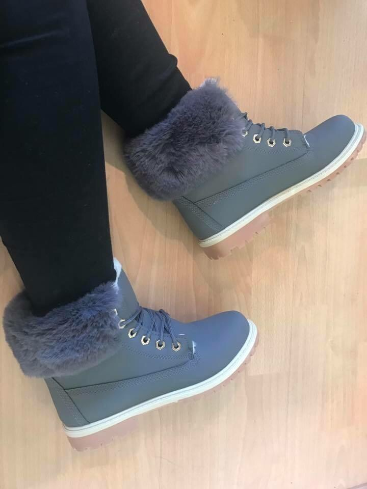 Fur lined boots