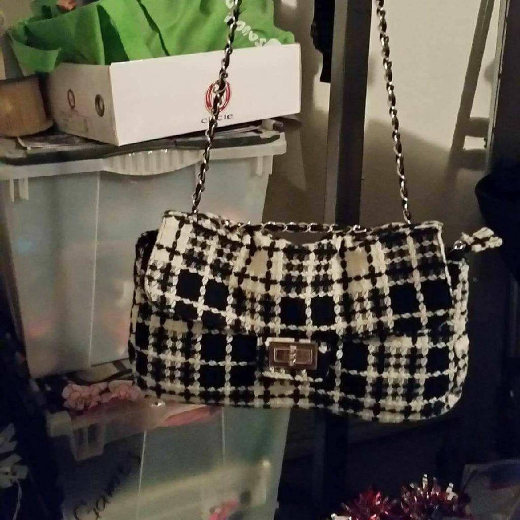 Cute black and white purse