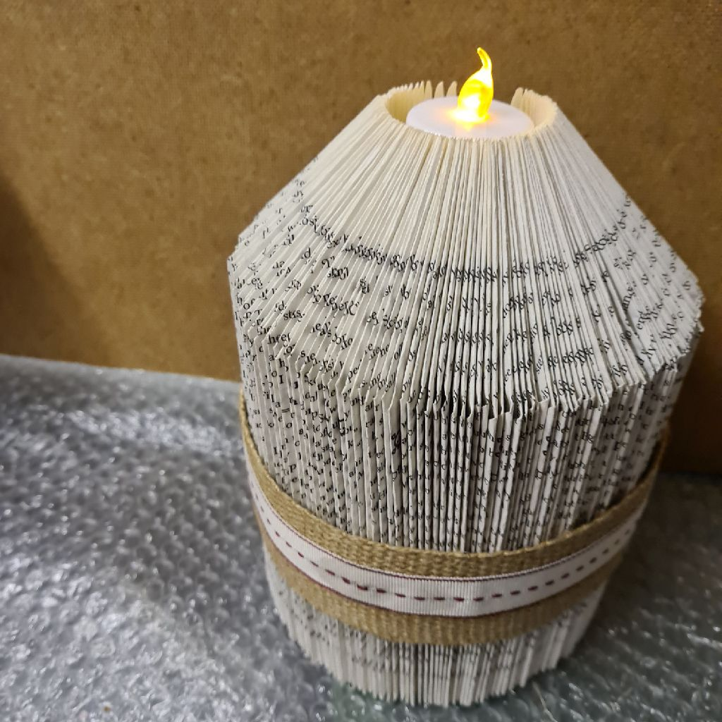Book art candle