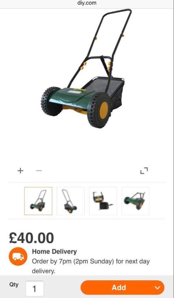 Manual lawnmover