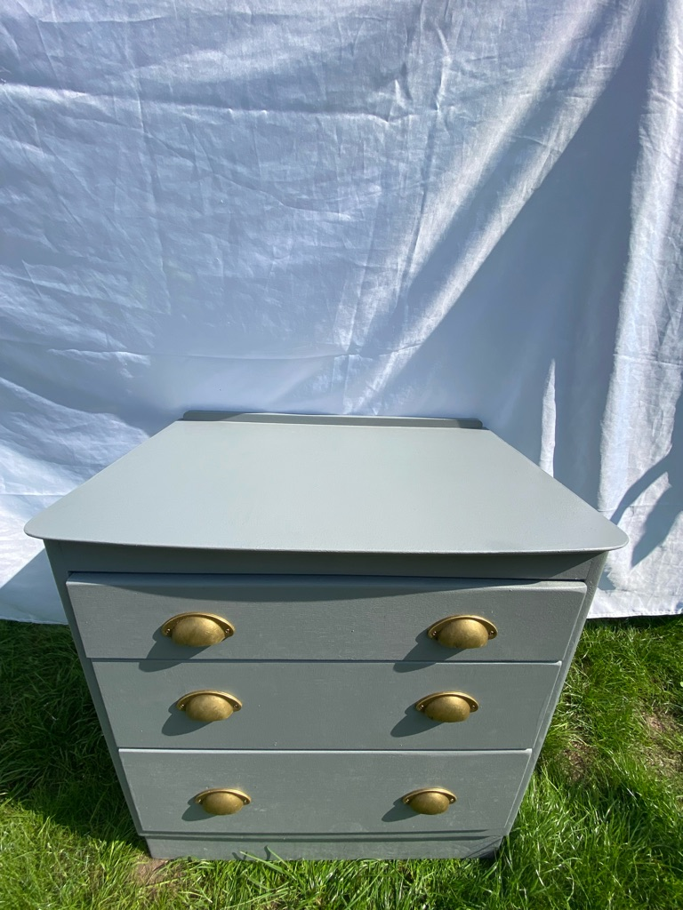 Vintage Pewter Grey - 3 Drawer Chest of Drawers