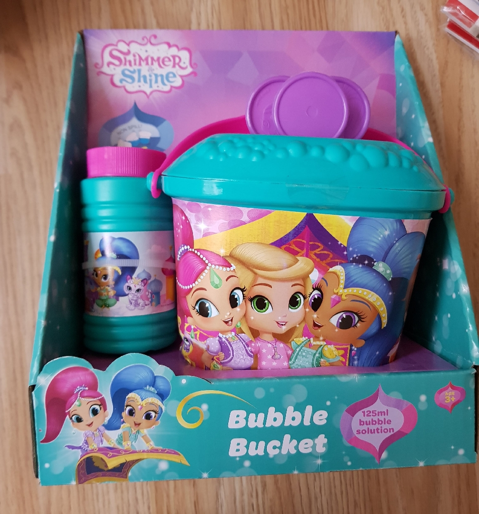 New shimmer and shine bubble buckets