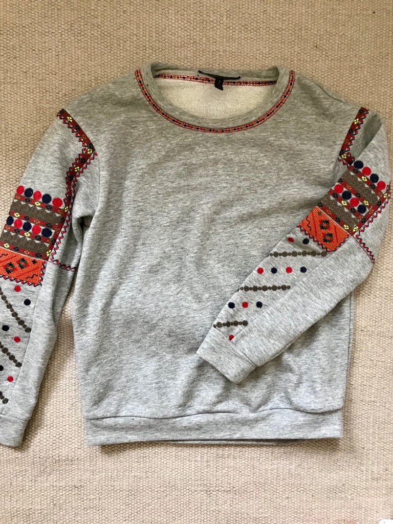 Original BCBGMAXAZARIA Embroided Sweatshirt