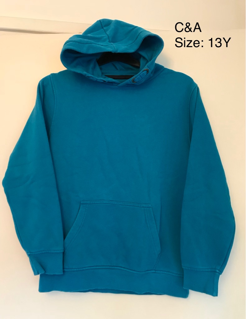 2 C&A Jumper Hoodies, 13 Yrs, in Very Good Condition