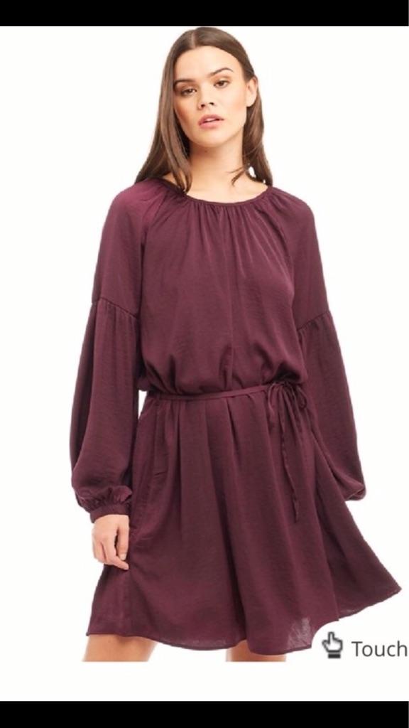 New, purple soft and comfy satin dress
