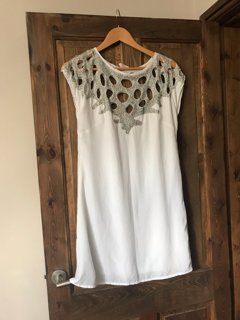 White party dress size 10